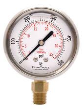 2 12 Pressure Gauge Stainless Steel Case 14npt Lower Mnt 0 500psi