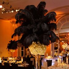 New Hot 10PCS Natural Ostrich Feathers 10-15CM Wedding Party Decor Black