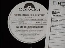 FRIEDEL HENSCH UND DIE CYPRYS -Wo der...- LP Polydor Promo Archiv-Copy mint