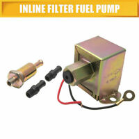 New Universal 12V Electric Filter Fuel Petrol Pump Inline Diesel Engine Gold AU