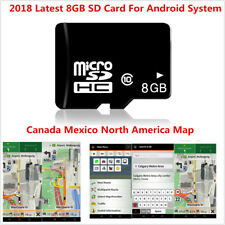 8GB SD Card Map For Android System Car GPS Software Canada Mexico North America