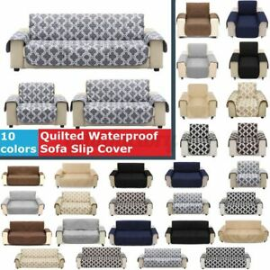 1/2/3 Seater Waterproof Sofa Slip Cover Pet Dog Furniture Couch Protector Throw