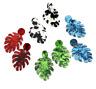 Monstera Leaf Drop Dangle Earrings Acrylic Statement Tropical Plant Jewelry