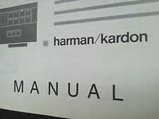 Harman KARDON HD 7225/7325/7425 originale manuale di istruzioni, owner's manual.