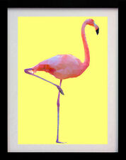 Flamant Rose Oiseau Jaune Wall Art Deco A3 poster print-limited edition of 100