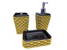 Articles et textiles marrons en plastique pour la salle de bain