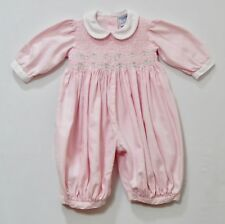 Friedknit Creations Smocked Pink Gingham Bubble Romper, 3 mos.