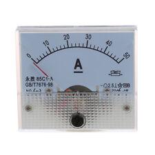 85C1 DC 0-50A Pannello rettangolo analogico amperometro Misuratore G8F7 Q5A1