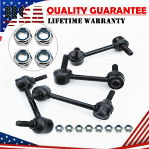 4pc Front Rear Stabilizer Sway Bar End Links For 2004-2007 Chevy Trailblazer GMC