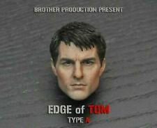 "1/6 Edge of Tomorrow TOM Cruise Male Head Sculpt F 12"" Figure Brother Production"
