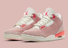 Nike Women's Air Jordan 3 Retro Shoe Rust Pink Sail White Crimson CK9246-600 NEW