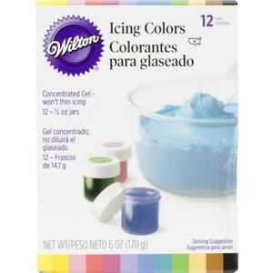 Wilton Icing Colors Concentrated Gel Based Formula 12 Colors