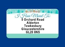 40 GLOSSY CHANGE OF ADDRESS LABELS MOVING HOUSE  CHRISTMAS CARD STICKERS