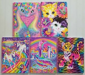 "Lisa Frank Retro Glitter Spiral Notebook 8x10.5"" ~ YOU PICK ~ Buy 2+ and save!"