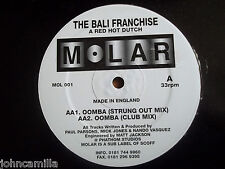 """THE BAIL FRANCHISE - A RED HOT DUTCH - 12"""" RECORD - MOLAR RECORDS - MOL 001"""