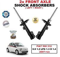 Anteriore Sinistro + Destro Ammortizzatori per Fiat 500 312 0.9 1.2 LPG 1.3 D