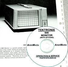 Tektronix 608 Monitor Operating & Service Manual