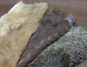 Kaninchenfell Pelz Hasen Fell Basteln Kaninchen Extra Große XL Einzelfelle 3