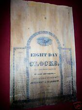 Jeromes' & Darrow, Bristol Conn. Label Antique Clock Parts
