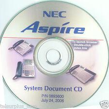 NEC - Aspire CD Documentation Manual** PCPRO ver 6.10 Software PN 0893600 NICE