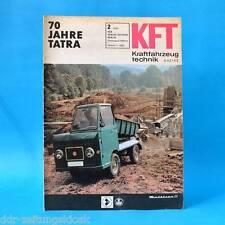 DDR Kft automóviles técnica 2/1967 Multicar 22 70 años Tatra 603 automobilsp.