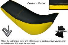 NERO e GIALLO realizzata accoppiamenti HYOSUNG RX 125 DUAL LEATHER SEAT COVER