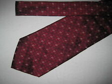 Mens Red Silk Print Tie Necktie Croft & Barrow (3171) ~  FREE US SHIP