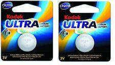 KODAK ULTRA CR2016 3V Botón Litio Batería EXP 2023 Paquete Doble