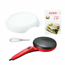 220V Electric Crepe Maker Baking Pizza Machine Portable Pancake Pan Non-stick