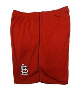 St. Louis Cardinals Majestic Men's Red Mesh Shorts Big & Tall 5XL