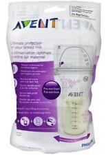 Philips Avent Breast Milk Pre Sterilised Storage Bags Dual Layer Double Zip x 25