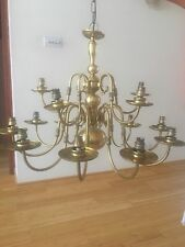 Large 15 arm Brass chandelier