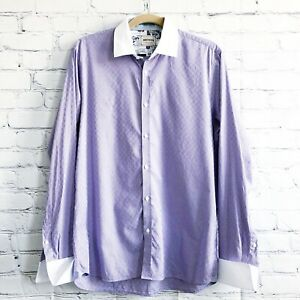Ted Baker London Archive Size 16 Striped Cotton Dress Shirt Career Business
