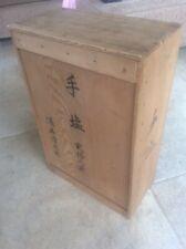 Vintage Japanese Wooden Box for Studio Pottery Salt Glaze Plates Sakai Seitaro