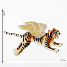 Flying Tiger Running Tattoo Fashion patch Sew on Embroidered Applique Cloth