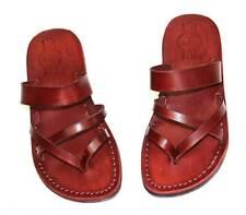 Jerusalem Biblical Jesus Sandals Leather Flip Flops Handmade Size 35-42