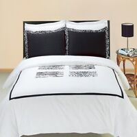 4PC OR 8PC Silky Soft and Smooth Burbank Embroidered Combed Cotton Bedding Set