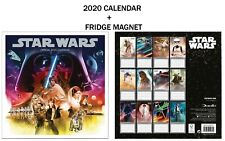 STAR WARS CLASSIC OFFICIAL CALENDAR 2020 + METAL MACHINE FRIDGE MAGNET