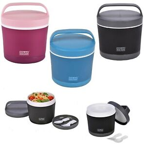 Lunch Bowl Office Hot Cold Meal Flask Baby Food Thermos Microwave Pot Spoon Fork