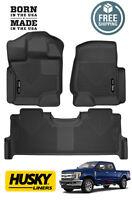 Husky X-Act Contour 2017-2018 Ford F250 F350 SuperCrew Crew Cab Floor Mats BLACK