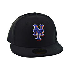 New Era 59Fifty New York Mets Subway Series Men's Fitted Hat Black-Blue 70081697