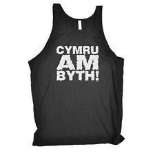 Funny Novelty Vest Singlet Top - Cymru Am Byth