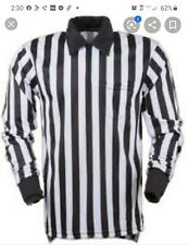 New Smitty Long Sleeve Lacrosse Referee Shirt Men's Large Black/White