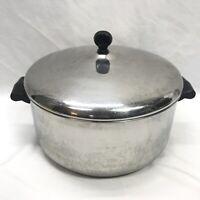Vintage Farberware Aluminum Clad Stainless Steel Tall 6 Quart Stock Pot w/Lid