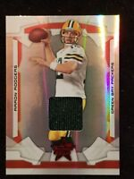 2008 Leaf Rookies and Stars Longevity RUBY Aaron Rodgers Packers JERSEY card