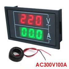 AC 300V100A Voltmeter Ammeter Red & Green LED Amp Dual Digital Volt Meter Gauge