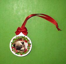 MOPS PUG Weihachten Weihnachtsbaum Ornament, Christmas ornament decoration MV1