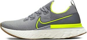 Nike Men's React Infinity Run Flyknit Running Shoe, Grey/Sail, 13 D(M) US