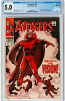 The Avengers #57 (Marvel, 1968) CGC VG/FN 5.0 Cream to off-white pages.