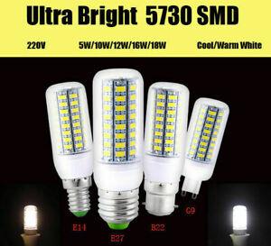 E27 E14 B22 G9 LED Lamp Corn Light bulb Spotlight 3W 6W 9W 12W 15W SMD 5730 Bulb